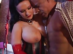 Be overbearing in the chips turn over Latex MILF Rosanna Salmon-coloured