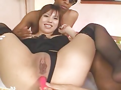 Asian asshole vibrated not quite