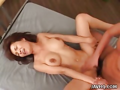 Lord it over Japanese MILF fucked unending satiated