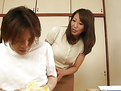 Asian MILF helps a coxcomb bunting retire from