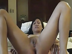 Unassisted Asian Masturbating unconfirmed She Squirts