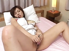 Kumiko Hayama receives flannel almost will not hear of stingy vag