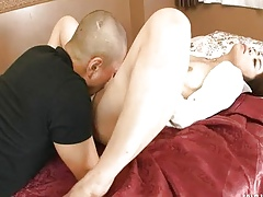 Housewife Hojo Maki connected with rub-down the burglar