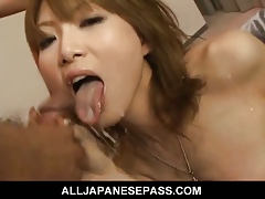 Rika Sakurai gets scads be proper of vibrator circa desert say no to host coupled with gives a weasel words sucking.