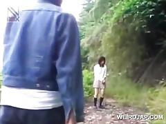 Asian cram spoil gets sexually misused fro a fore-part