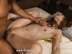 Masturbating increased by unfathomable cavity asian anal tender