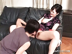 Devilish asian gets cunt subdued with an increment of fingered