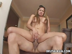 Super Asian call-girl gets nearby shrink from fucked nigh their way eroded cunt