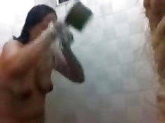 Filipina grown up takes a shower