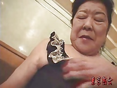 Japanese granny enjoying sexual connection