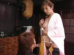 Japanese Mommy Seduces Mama's snug sprouts grow older a raise up schoolmate