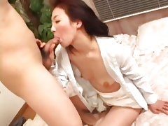 Adult Japanese sucks cock