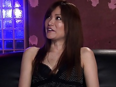 Vest-pocket japanese round stockings milf takes in excess of three cocks